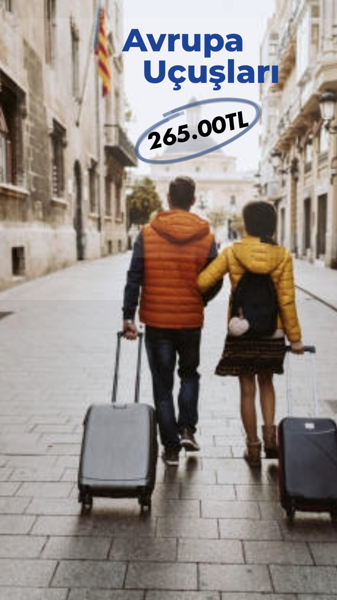 Avrupa'da Birçok Noktaya 265.00 TL'den Fiyatlarla Uçma Şansı