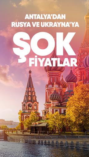 Antalya'dan Rusya ve Ukrayna'ya Şok Fiyatlar